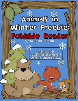 FREEBIE: 'Bears in Winter' Foldable Reader