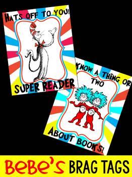 FREEBIE: Bebe's Brag Tags - Dr.Seuss - Read Across America