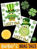 FREEBIE: Bebe's Brag Tags - St. Patrick's Day Lucky Owls