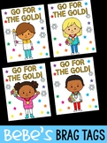 FREEBIE: Bebe's Brag Tags - Winter Olympics 2018 - Go For the Gold!