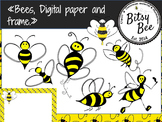 "FREEBIE ""Bees, Frame and Digital Paper."" (Bitsy Bee Clip Art)"