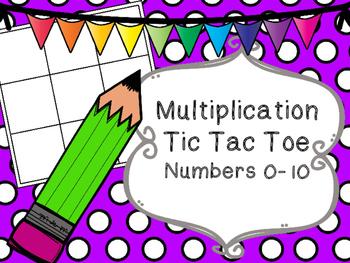 Beginning Multiplication Tic Tac Toe Numbers 0-10