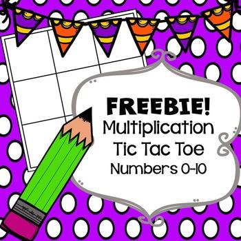 FREEBIE!! Beginning Multiplication Tic Tac Toe