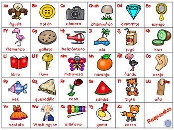 FREEBIE Beginning Sounds Clipcards Spanish/English