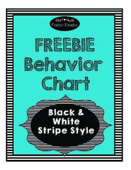 FREEBIE Behavior Chart Black & White Style