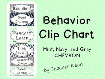 FREEBIE Behavior Clip Chart-Chevron