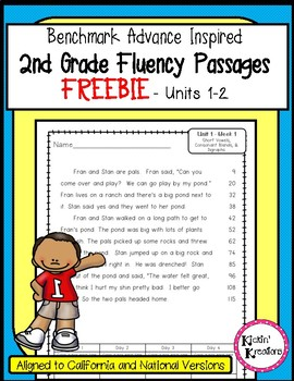 FREEBIE - Benchmark 2nd Grade Fluency Passages (Ca. and National)