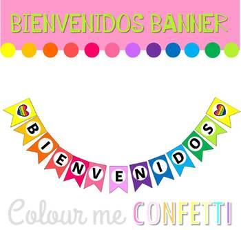 FREEBIE Bienvenidos Banner - Colour me Confetti
