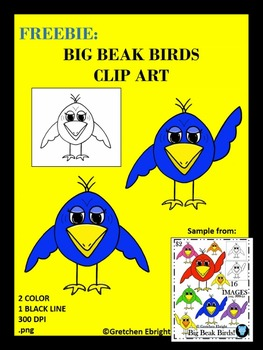 FREEBIE: Big Beak Birds Clip Art