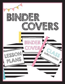 FREEBIE - Binder Cover - Cute, Chic, Girly, Fun, Stripes - Printable