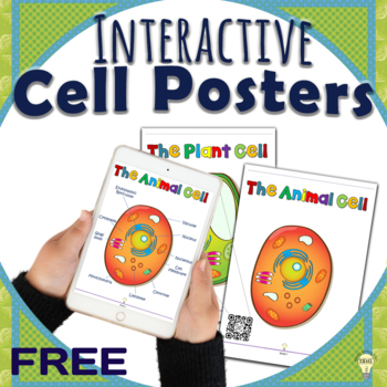 FREE Cells Anatomy: Animal Cells and Plant Cells Posters with QR Code