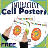 FREEBIE Biology: Animal Cells and Plant Cells Posters with