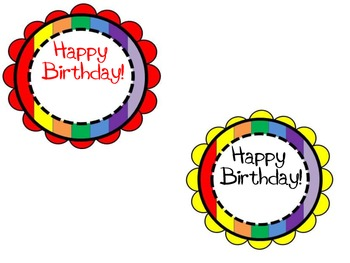 FREEBIE! Birthday Badges - Pencil Topper - Crazy Straw Topper - Gift