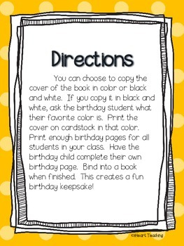 {FREEBIE} Birthday Book! (Kindergarten, First, and Second Grade)
