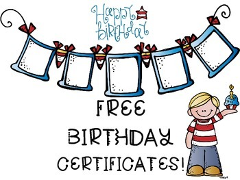 FREEBIE Birthday Certificate