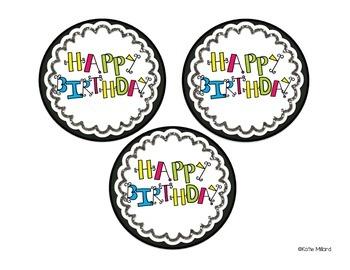 *FREEBIE* Birthday Crazy Straw Toppers