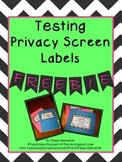 FREEBIE Black Chevron Privacy Screens Labels
