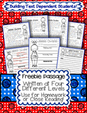 FREEBIE: Black History Month Passage Written at 4 Levels {Use for Close Reading}