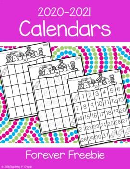 FREEBIE- 2017-2018 School Calendars