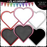 FREEBIE Blank Heart Boards Clip Art - Valentine's Day - Cl
