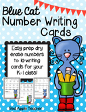 FREEBIE---Blue Cat Number Writing (Numbers to 10)