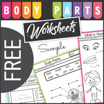 FREE Body Parts Read and Write Worksheets