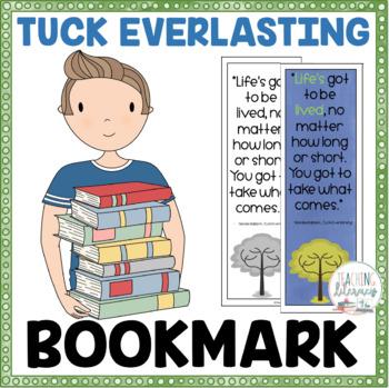 FREEBIE - Book Quote Bookmark  - Tuck Everlasting - Color and Black/White