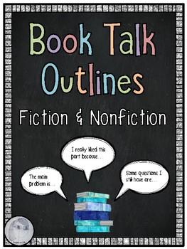 FREEBIE- Book Talk Outlines