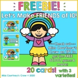 FREEBIE Boom Cards and Scoot : Make a 10 : Friends of 10 : Write the Room :