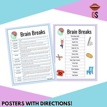 FREEBIE: Brain Break Poster & Ideas