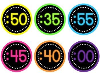 FREEBIE Bright Clock Numbers