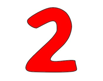 Red, Rounded, Square With Number 2 Clip Art at Clker.com ...  |Red Number 2