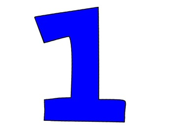 FREEBIE Bubble Numbers 1-10 in png format, in blue, red and white
