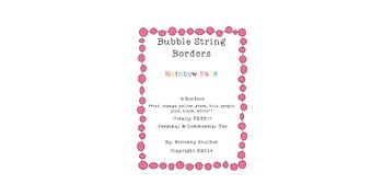 FREEBIE! Bubble String Frames & Borders, Rainbow Pack
