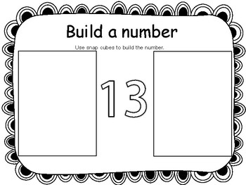 FREEBIE Build a Number for Snap Cubes