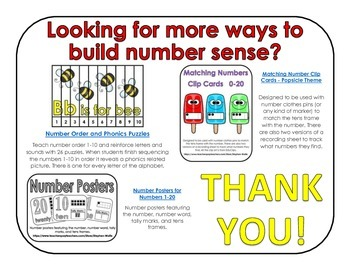 FREEBIE! - Build a Tower - Counting Game