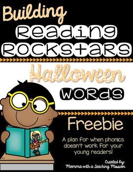 FREEBIE Building Rockin' Readers A Reading Plan & Activities Halloween