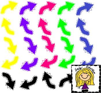 FREEBIE: Bumpy Arrow Clip Art