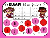 FREEBIE! Bump! Adding Fractions Game - Valentine's Day Theme