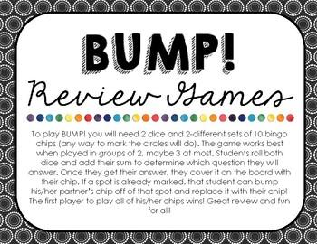 FREEBIE! Bump! Review Game - Adding Decimals