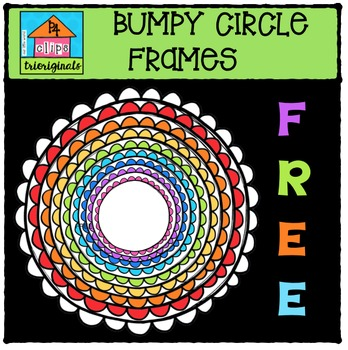 FREEBIE Bumpy Circle Frames {P4 Clips Trioriginals Digital Clip Art}