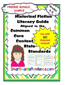 FREEBIE Bundle, Sample of Historical Fiction Literacy Guide