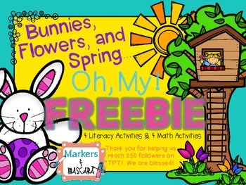 FREEBIE!  Bunnies, Flowers, and Spring... Oh, My!