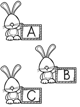 FREEBIE Bunny Letter Match Cards for a Sensory Table