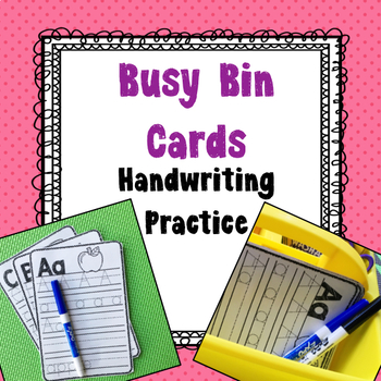 FREEBIE, Busy Bin, Exit Ticket, Handwriting Practice, journals