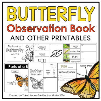 Butterfly Observation Book & Other Printables