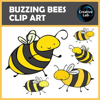 FREEBIE – Buzzing Bees Clip Art Set – 10 images