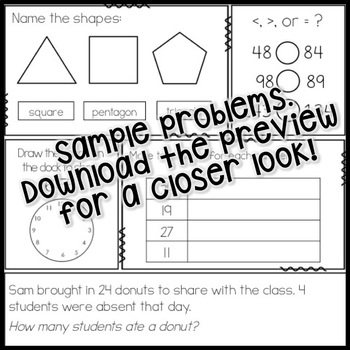 """CCSS aligned Math Morning / """"Do Now"""" Work - PREVIEW!"""