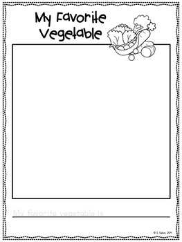 FREEBIE CLASS BOOK My Favourite Vegetables