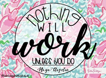 FREEBIE!! CLASSROOM QUOTES {lilly inspired}